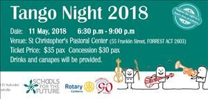 Tango Night (presented by Schools for the Future and Rotary Club of Canberra)
